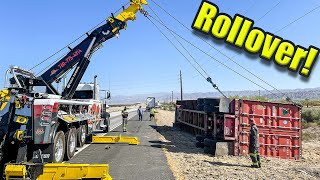 Container Rolls Over! 50,000lbs Of Hay!