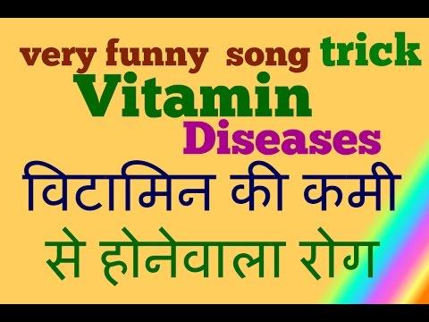 GK Tricks in Hindi || Vitamins - desiease Name || vitamin scientific name  || biology