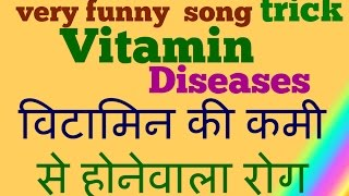 GK Tricks in Hindi || Vitamins -  desiease Name || vitamin scientific name || biology