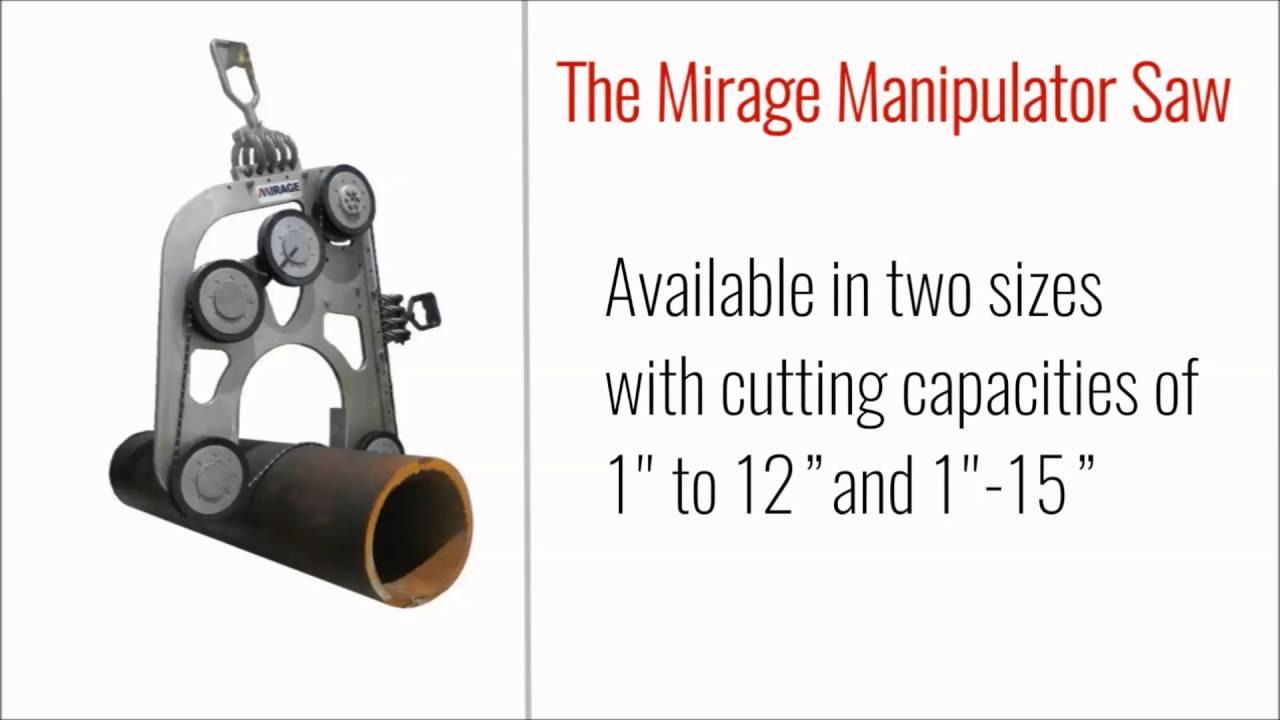 Mirage Machines Manipulator Diamond Wire Saw - YouTube