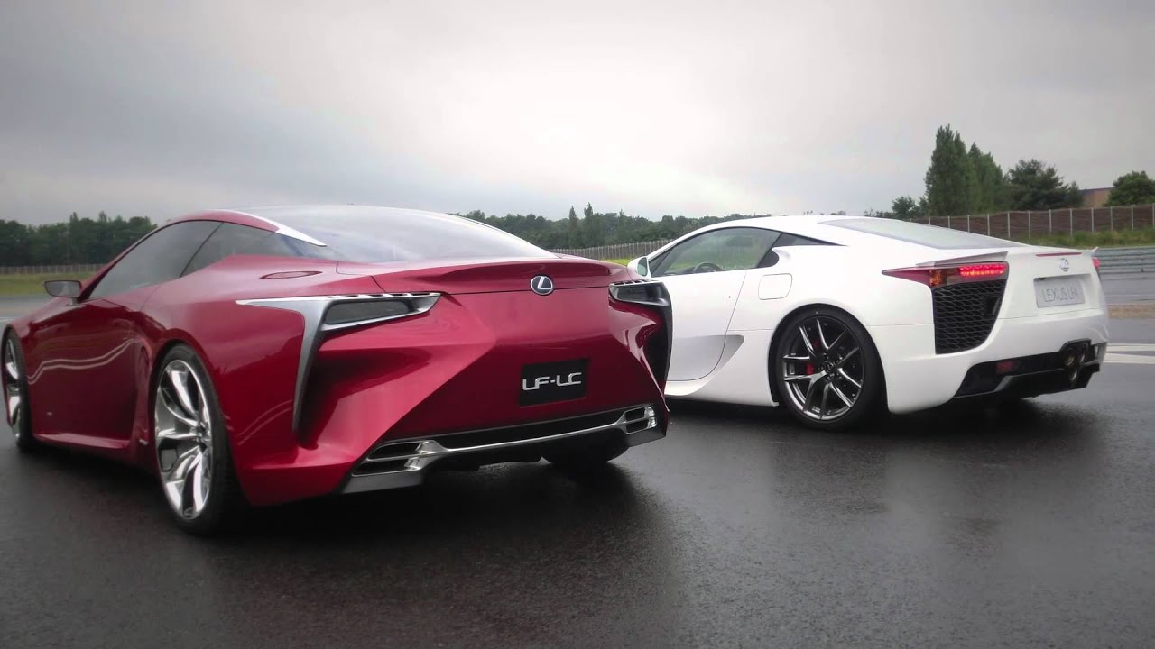 lexus lfa & lf-lc: a supercar meeting an avant-garde beauty - youtube