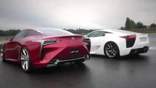 Lexus LFA & LF-LC: a supercar meeting an avant-garde beauty