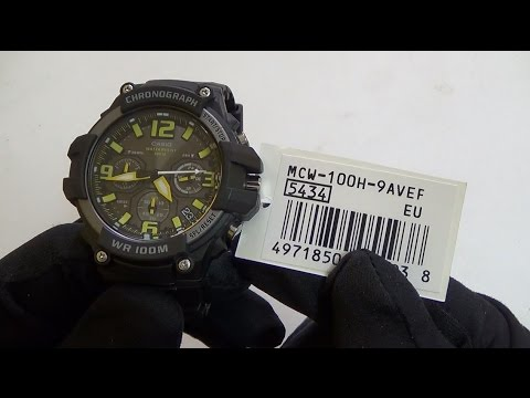 cdc1c435b38 Casio - MCW-100H-9AVEF - YouTube