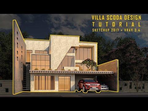 Villa Scoda: Modeling, Materials, Vray settings & Landscape