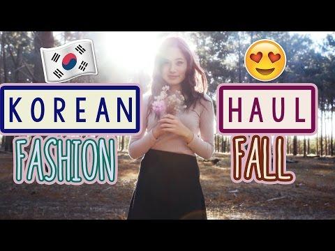 KOREAN Fashion Shopping Haul   Autumn Lookbook