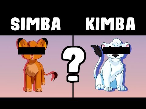 I draw SIMBA and KIMBA in EACH OTHERS ART STYLES  [SPEEDPAINT]