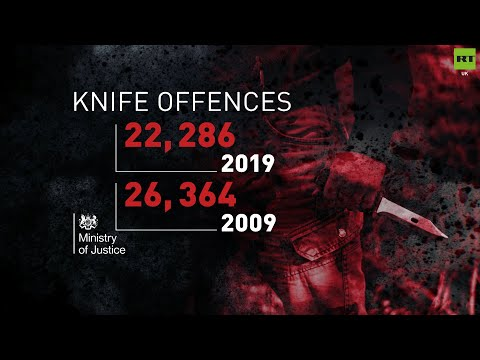 Knife offences are at the highest level in over a decade