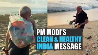 Modi-Xi meet day 2: PM releases video of him plogging at Mamallapuram beach