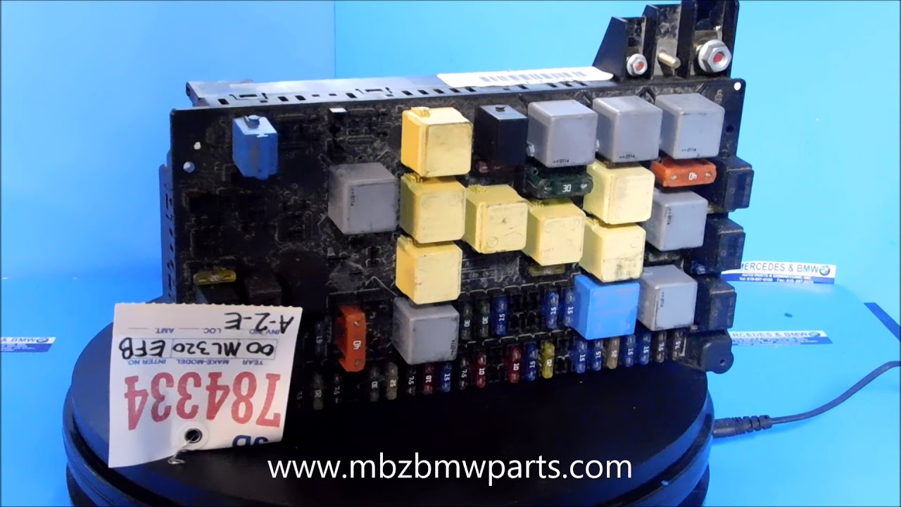hight resolution of 1998 2005 mercedes ml series engine fuse box 1635450205