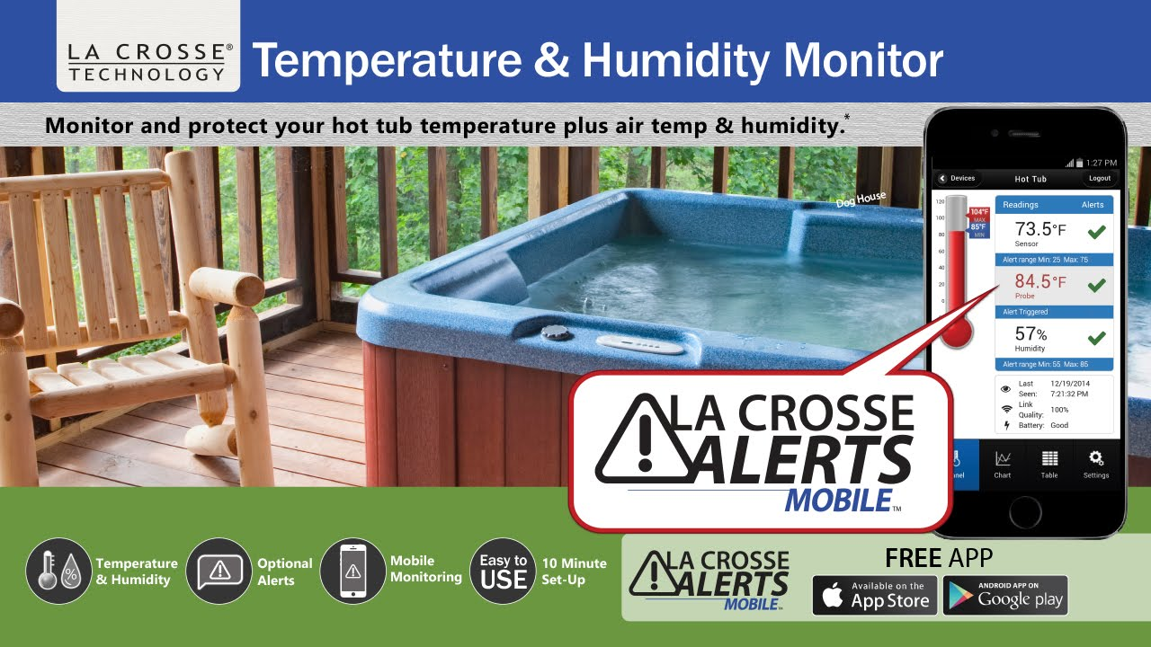 La Crosse Alerts Mobile - For Your Hot Tub - YouTube