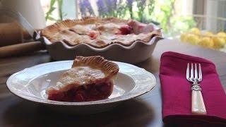 Pie Recipes - How To Make Rhubarb Cherry Pie