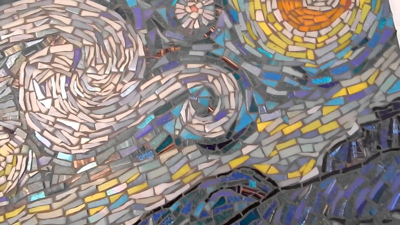 Van Gogh: Starry Night  Gabor Abraham mosaic art - YouTube