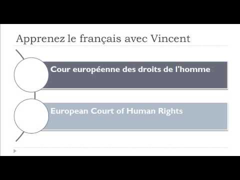Learn French vocabulary = Advanced level = Court of Justice of the European Communities