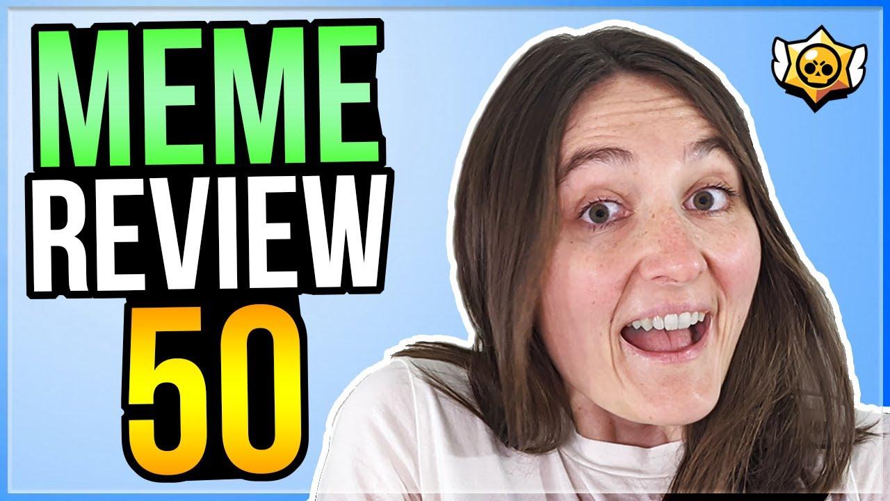 MY GIRLFRIEND REVIEWS MEMES! Brawl Stars Meme Review #50