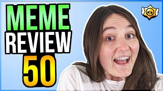 MY GIRLFRIEND REVIEWS MEMES! Brawl Stars Meme Review #50