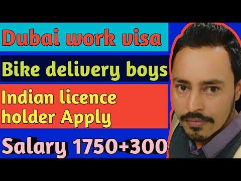 Dubai work visa ' Bike Delivery Boys jobs Indian licence holder !! Apply  NOW 2019