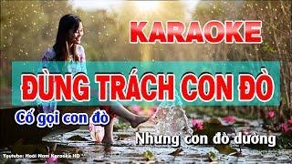 Hờn Trách Con Đò Karaoke Nhạc Sống | karaok hon trach con do