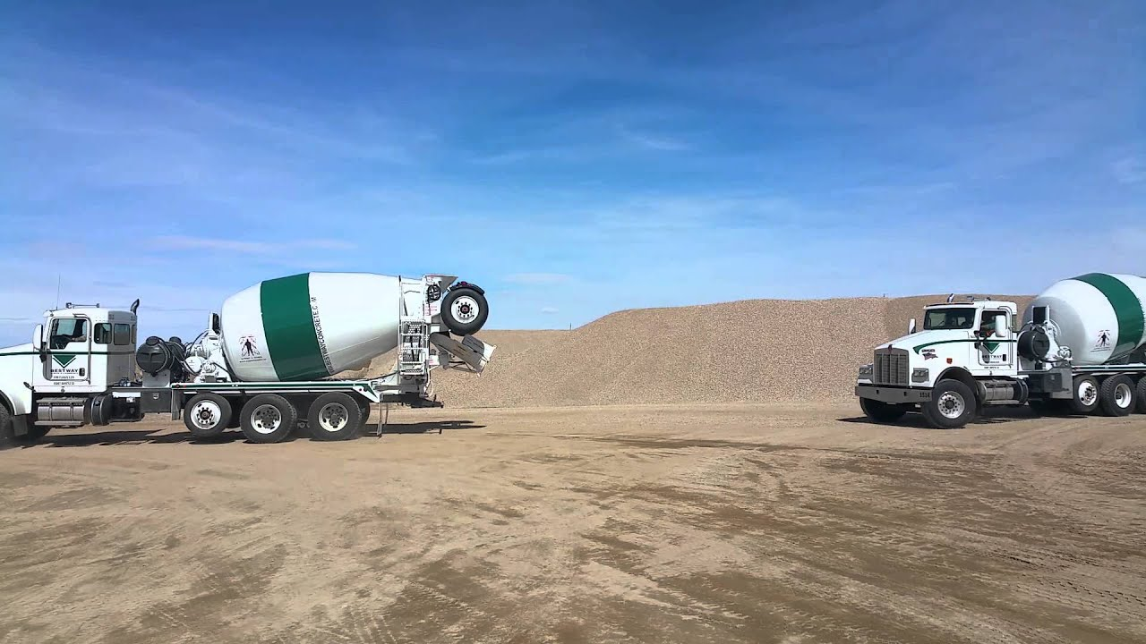 Bestway Concrete New Mixer Trucks - YouTube