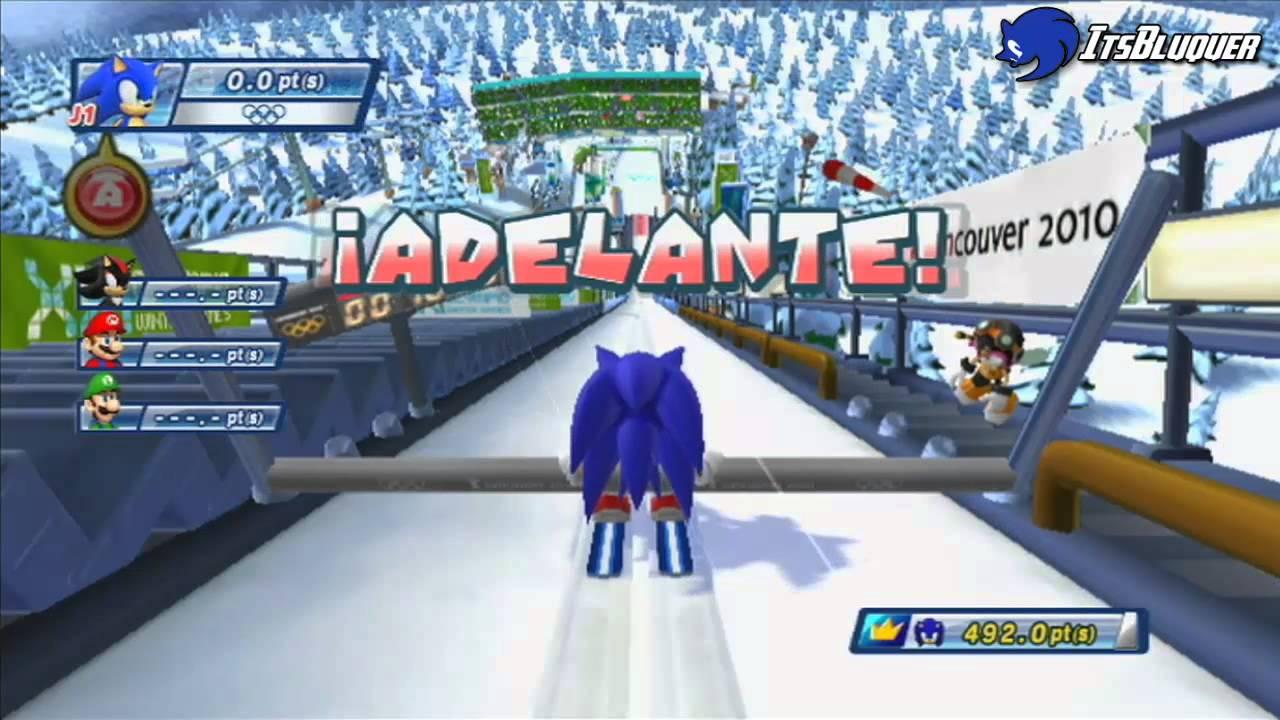 Mario Y Sonic En Los Juegos Olimpicos De Invierno 2010 2 Youtube