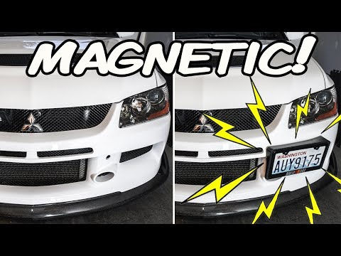 INSANE  Magnetic License Plate Install! How To Install A Magnetic License Plate | Evo 9