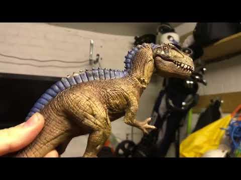 Destroying the schleich Acrocanthosaurus