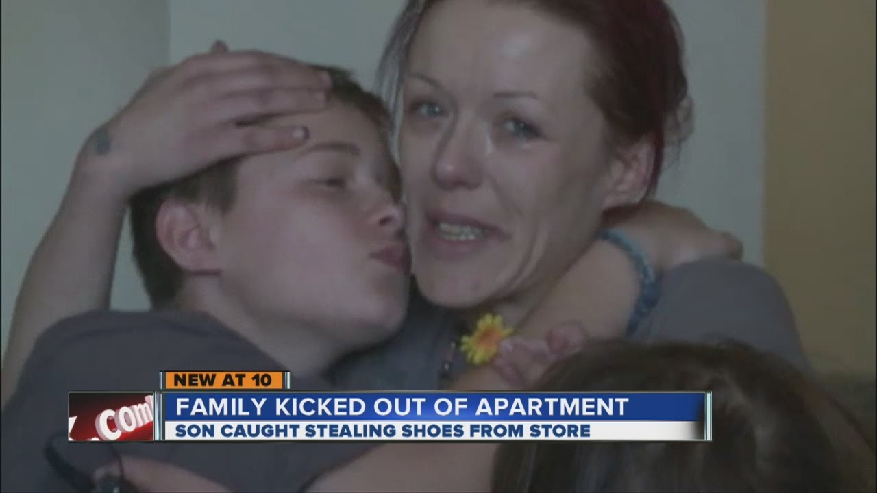 13-year-old boy steals shoes, family