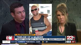 Breakdown of timeline in Robert Limon's murder