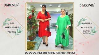 03 05 2021 Часть 1 Показ женской одежды больших размеров DARKWIN от DARKMEN Турция Стамбул Опт