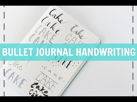 BULLET JOURNAL HANDWRITING | Quick & Easy