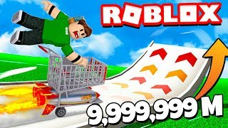 VOLAMOS 9,999,999 METERS in a CARRITO in ROBLOX !!