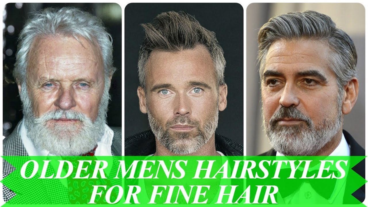 Mens Haircut Styles For Thin Hair: 50 Best Fade Older Mens Hairstyles 2018