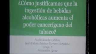 ¿Cómo justificamos que la ingestión de bebidas alcohólicas aumente el poder cancerígeno del tabaco?