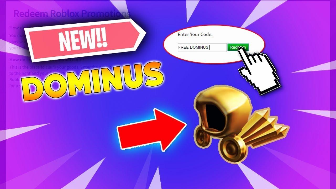 FREE DOMINUS ROBLOX CODE! (Roblox Dominus Secret Code)