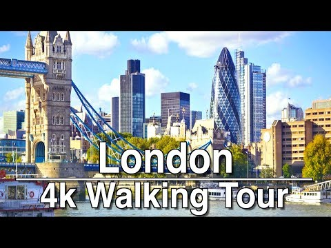 Walking around London LiverPool Station to The Shard | 4k | Ambient Music