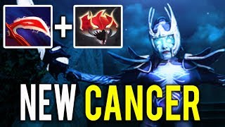 NEW CANCER BUILD Desolator + Madness PA 23 Min GG By MidOne Practice for TI8 Dota 2