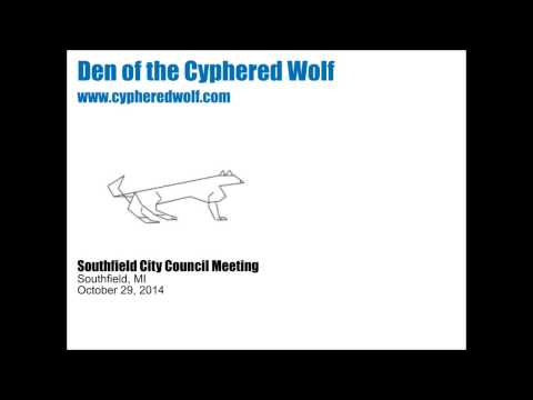 October 29, 2014 Southfield City Council Meeting