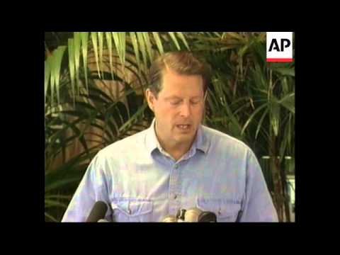 HAWAII: VICE PRESIDENT AL GORE STANDS BY BILL CLINTON