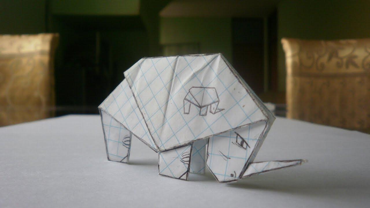 tutorial rinoceronte origami - photo#7