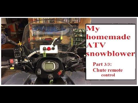 DIY / homemade ATV snowblower, part 3: remote chute ...