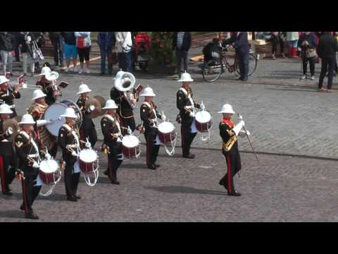 The Band of H.M Royal Marines Portsmouth Great Britain. Eksjö Tatto, Sweden 10/8 2016.