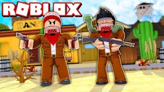 2 PLAYER BUILDING A BASE in the OLD WEST of ROBLOX → Two Player Heist Tycoon (ft. gamermore) 🎮