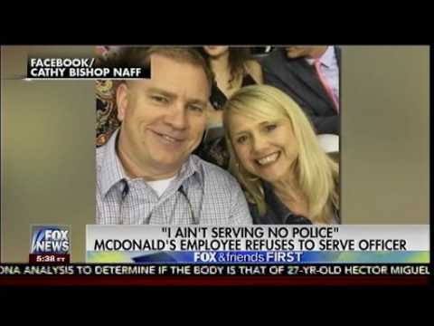 """""""I Ain't Serving no Police"""" - McDonald's Employee Refuses to serve Officer - Fox & Friends"""