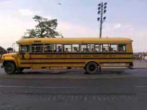 Cool american school bus in Dresden
