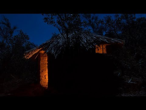 Cold night challenge in the adobe hut