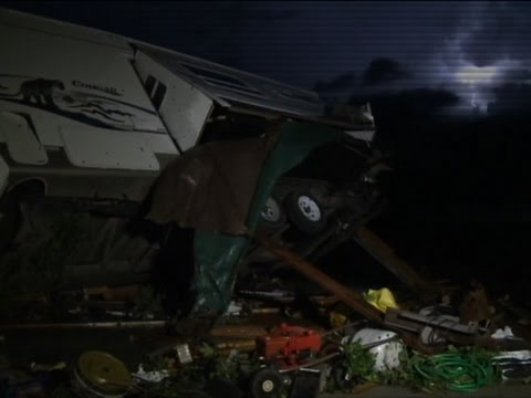 Raw: Tornado Destroys Homes in Northern Kansas