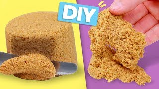 DIY KINETIC SAND! So Easy - Sensory Toy for Kids and Satisfying Stress Relievers
