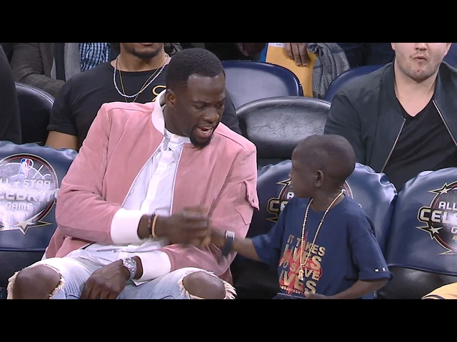 Jarrius Robertson HILARIOUS Conversation with Draymond | Mic'd Up | 02.17.17