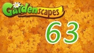 Gardenscapes level 63 Walkthrough