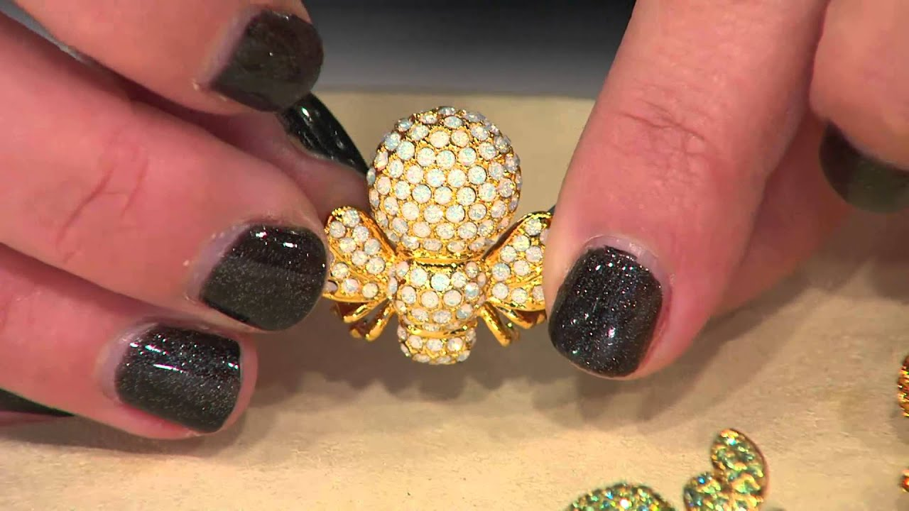 Joan Rivers Pave\' Birthstone Bee Pin with Stacey Stauffer - YouTube