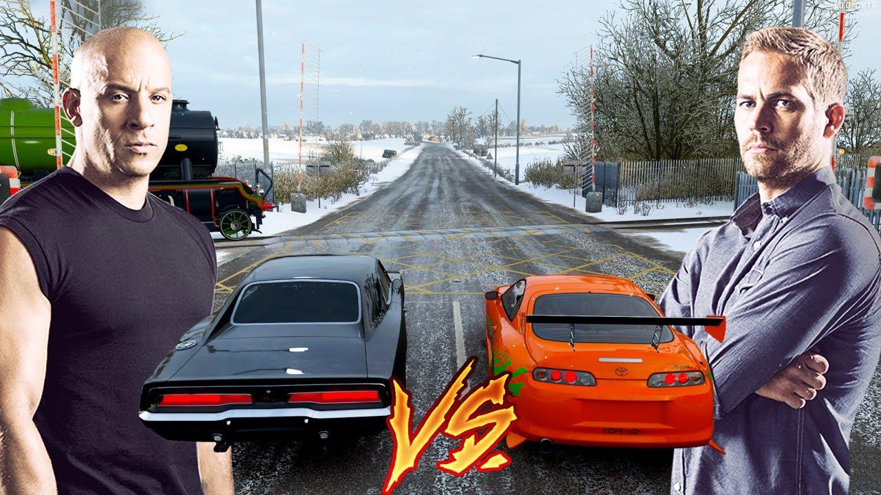 Dominic Toretto VS Brian O'Conner - Dodge Charger VS Toyota Supra - Forza Horizon 3